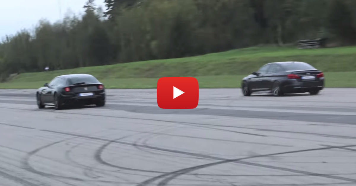 You Won't Believe Who Wins in a Race between a Ferrari FF vs BMW M5 F10
