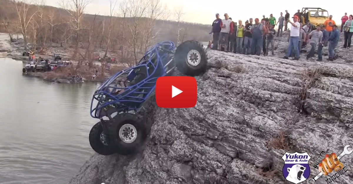 ATV Climbs Almost Straight Up