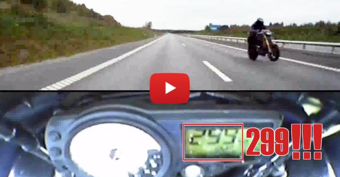 Ghost Rider Run on a Turbo Hayabusa