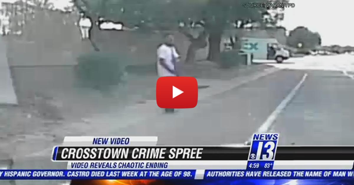 Dashcam Shows Cop Ramming Crime Spree Suspect