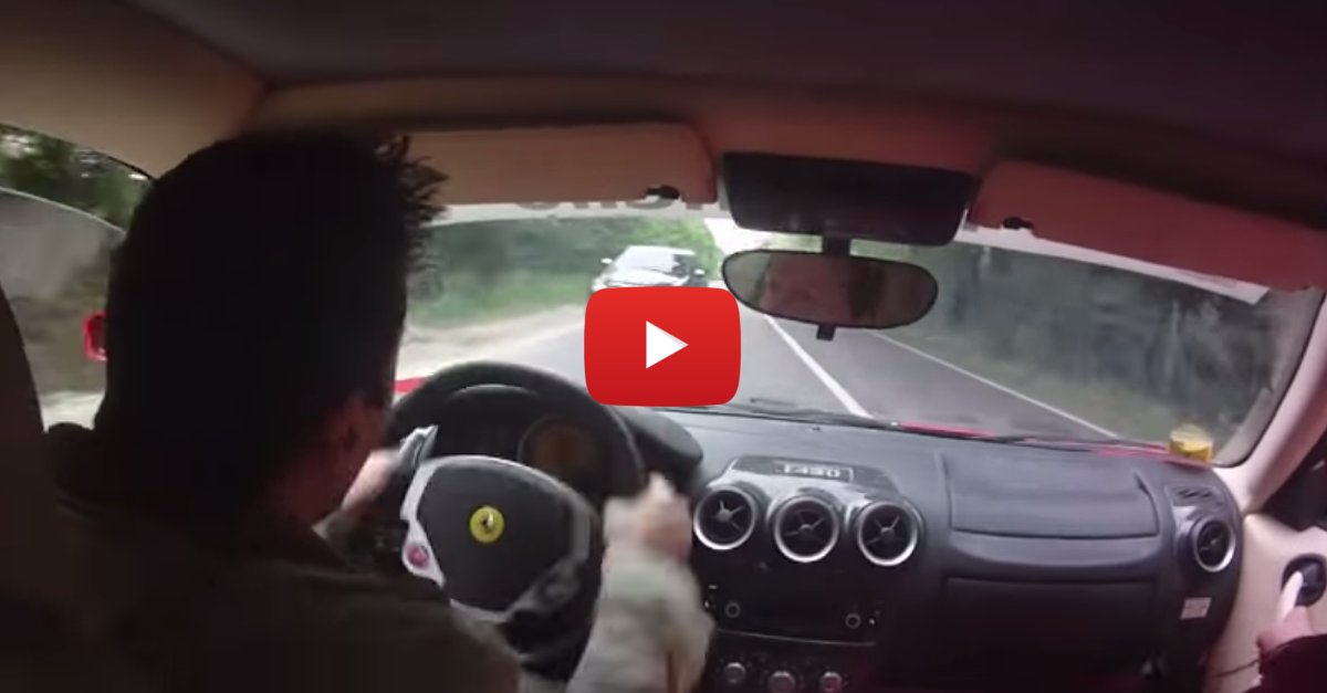 Incredible Reaction Speed Save Prevents Ferrari Wreck