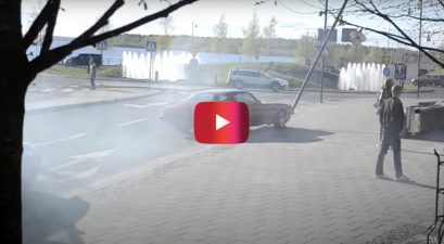 chevrolet camaro burnout crash