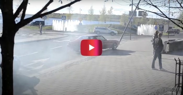 Driver Crashes '75 Camaro in Burnout Attempt