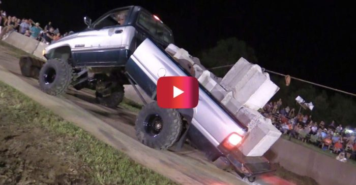 Dodge Ram Still Wins Pull Contest Even After Bending in HALF