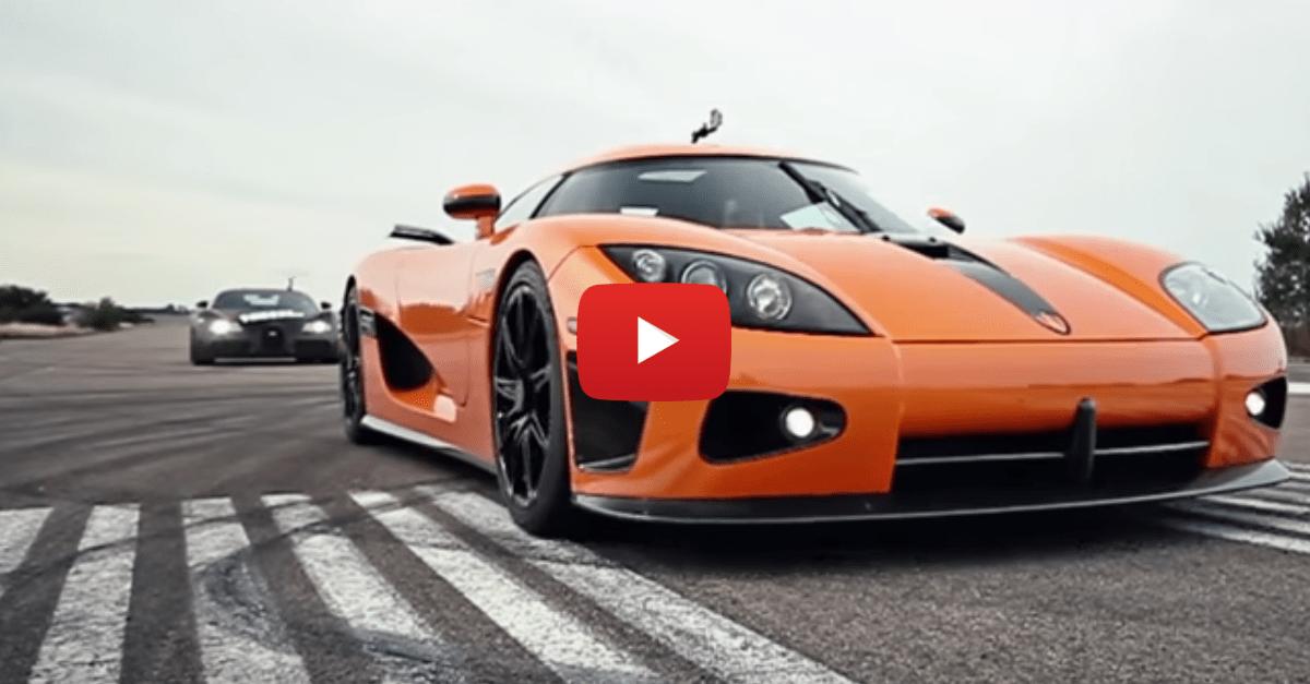 Koenigsegg CEO Races A Bugatti Against His CCXR