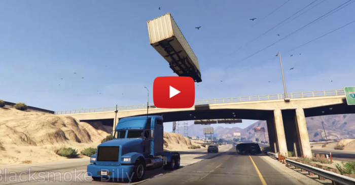 The Most Incredible GTA Truck Stunt You'll Ever See