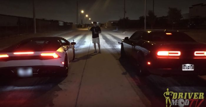700-HP Dodge Hellcat Leaves Lamborghini Huracan in the Dust