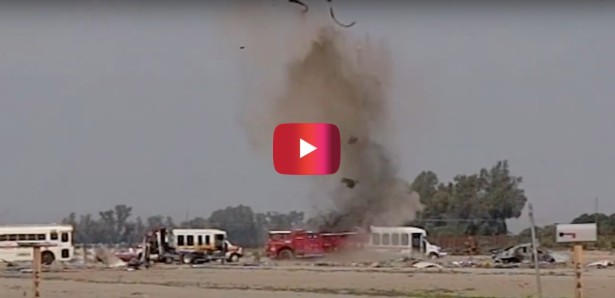 3 Pounds of C-4 Blows Up Fire Truck