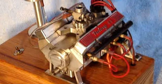 Introducing the World's Smallest Running V8 Engine