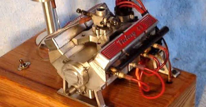 World's Smallest Running V8 Is an Engineering Marvel