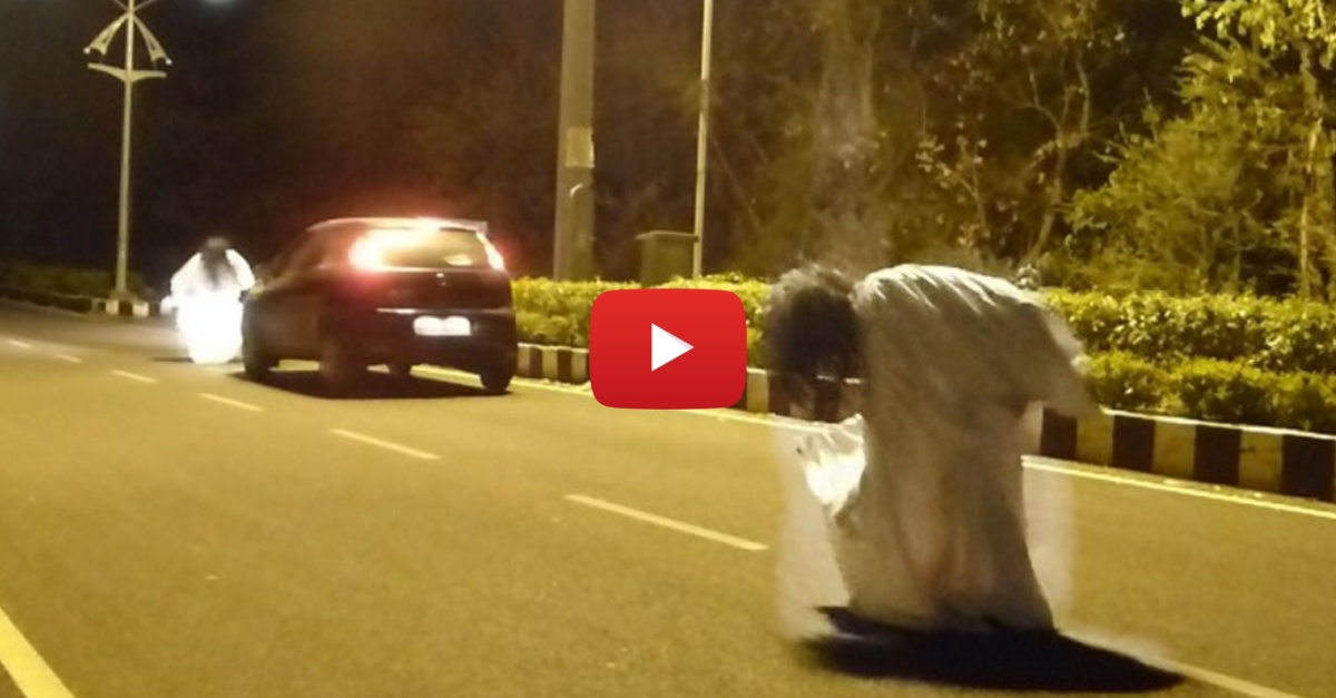 Ghost Sisters Prank Goes Wrong and an Idiot Gets Run Over