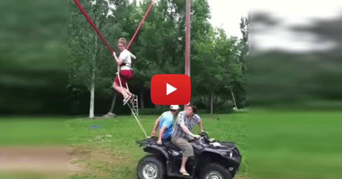 Human Slingshot Sends Redneck for a Wild Ride