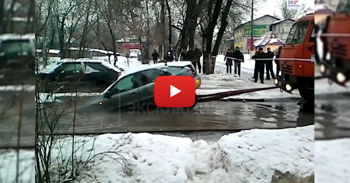 Tow Truck Absolutely Totals Car During Rescue