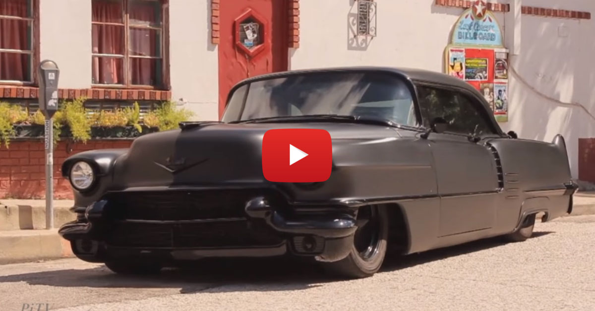 Mean, Lowered, Murdered-Out '56 Coupe Deville