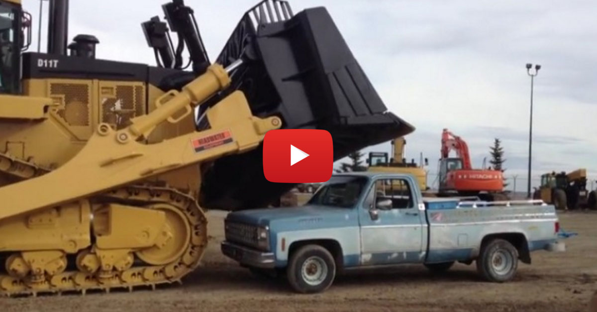 Crushing a Truck with a Caterpillar Bulldozer is the Best Way to Let Off Steam