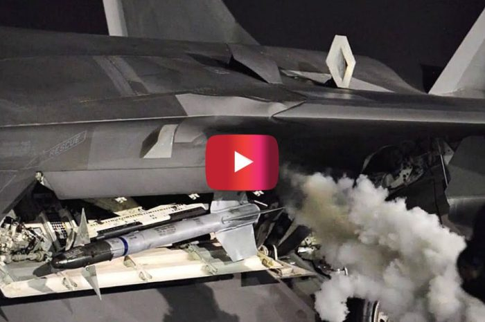 F-22 Raptor Engine Startup Caught on Video
