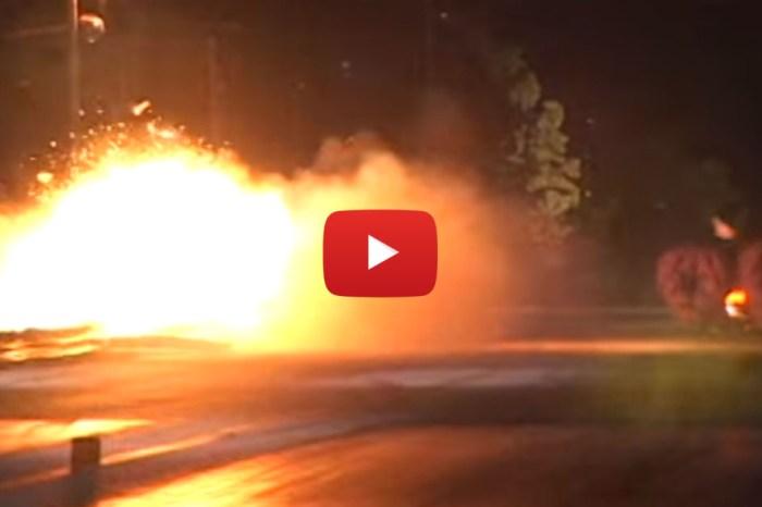 Massive Trans Am Drag Race Explosion