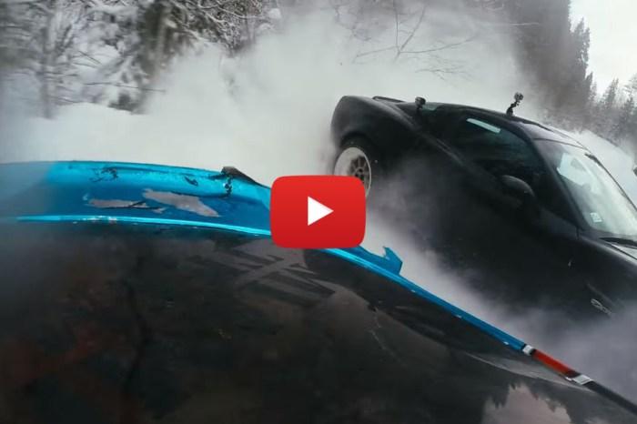 It's Supra Vs. Corvette In This Winter Drift