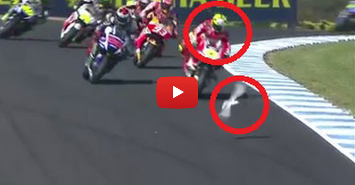 Moto GP Racer Headbutts the Life Out of a Seagull