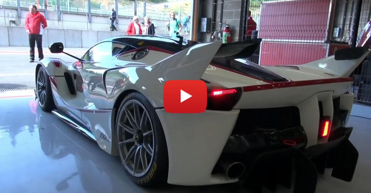 Ferrari Rolls Out All Their Finest Racecars In One Track Day