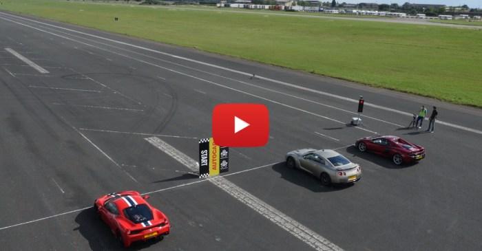 Who Will Win When Its GT-R Against Ferrari Versus McLaren?