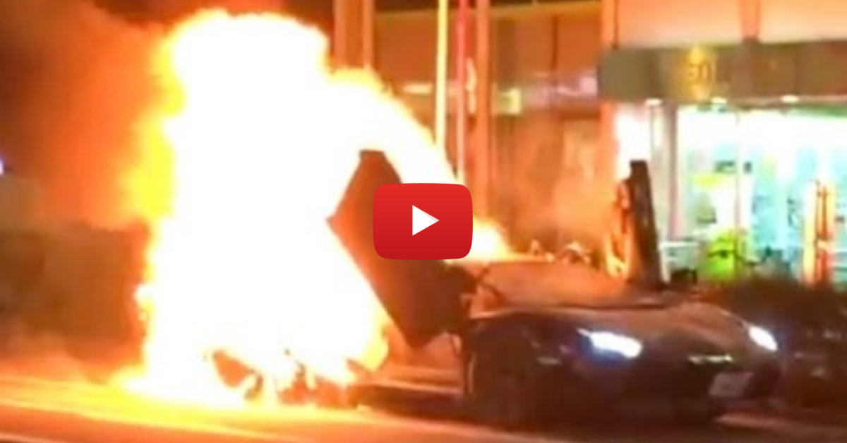 Lamborghini Aventador Burns to the Ground in Japan