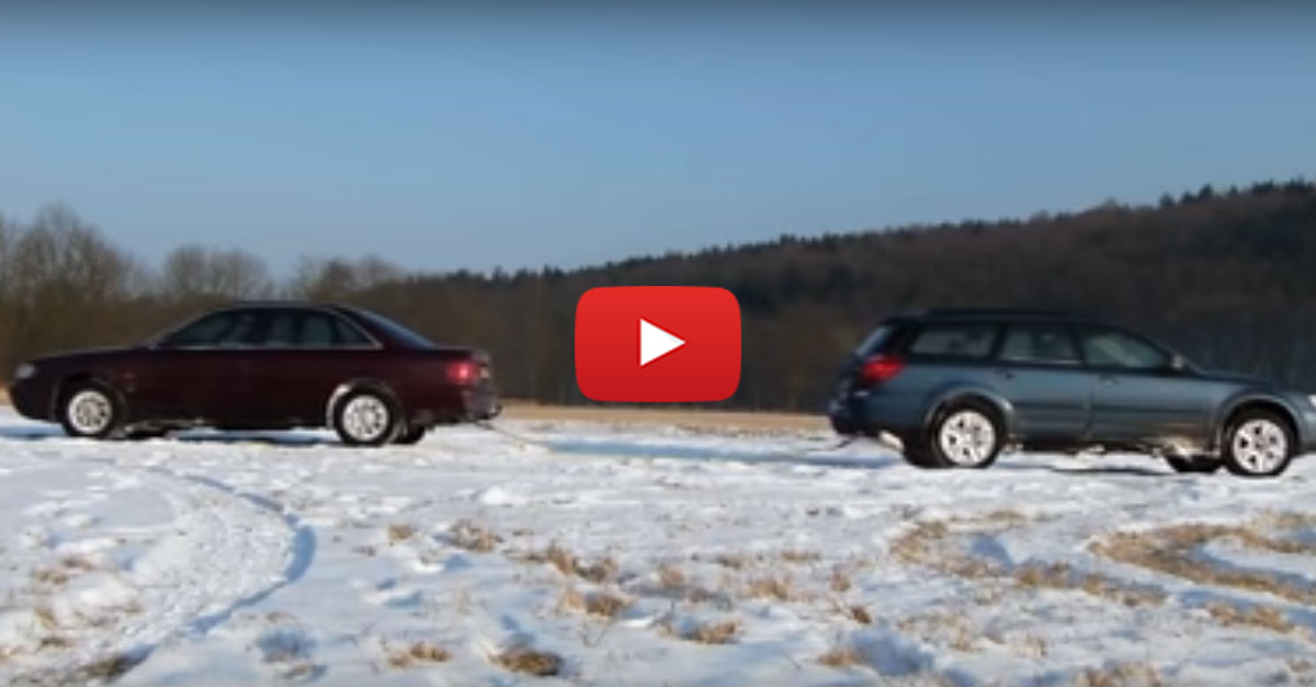 Audi A6 Quattro Vs Subaru Outback In The Snow