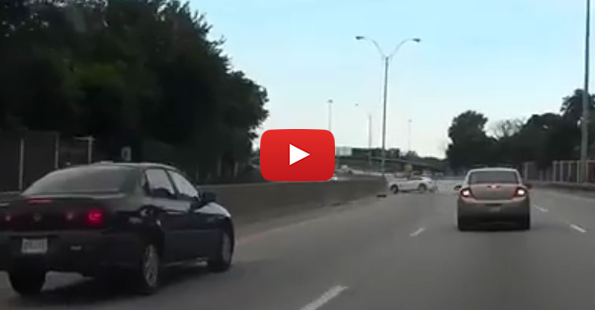 Chrysler Crossfire Loses Control And Wrecks On Highway