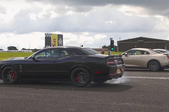 A 911 Turbo S, A Hellcat, And Godzilla Walk Into A Drag Race