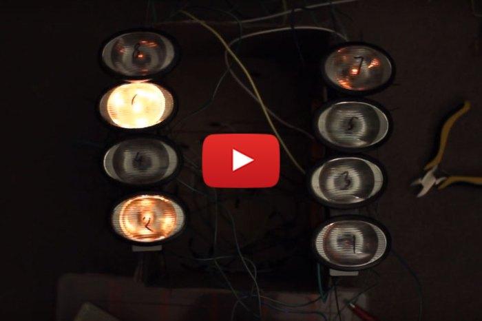 Light Demonstration Of The LS1 Firing Order