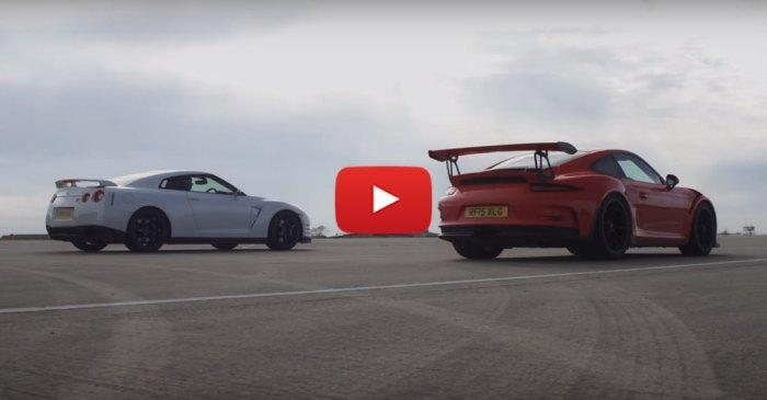 Nissan GT-R Vs Porsche 911 GT3 RS Drag Battle