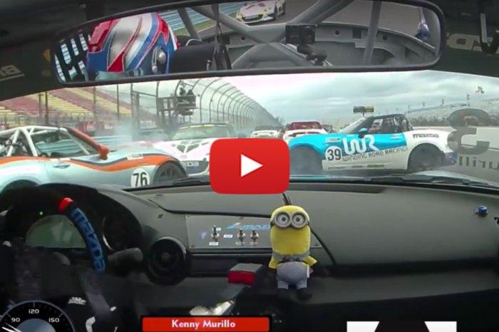 Multiple Cars Crash During A Super Miata Race