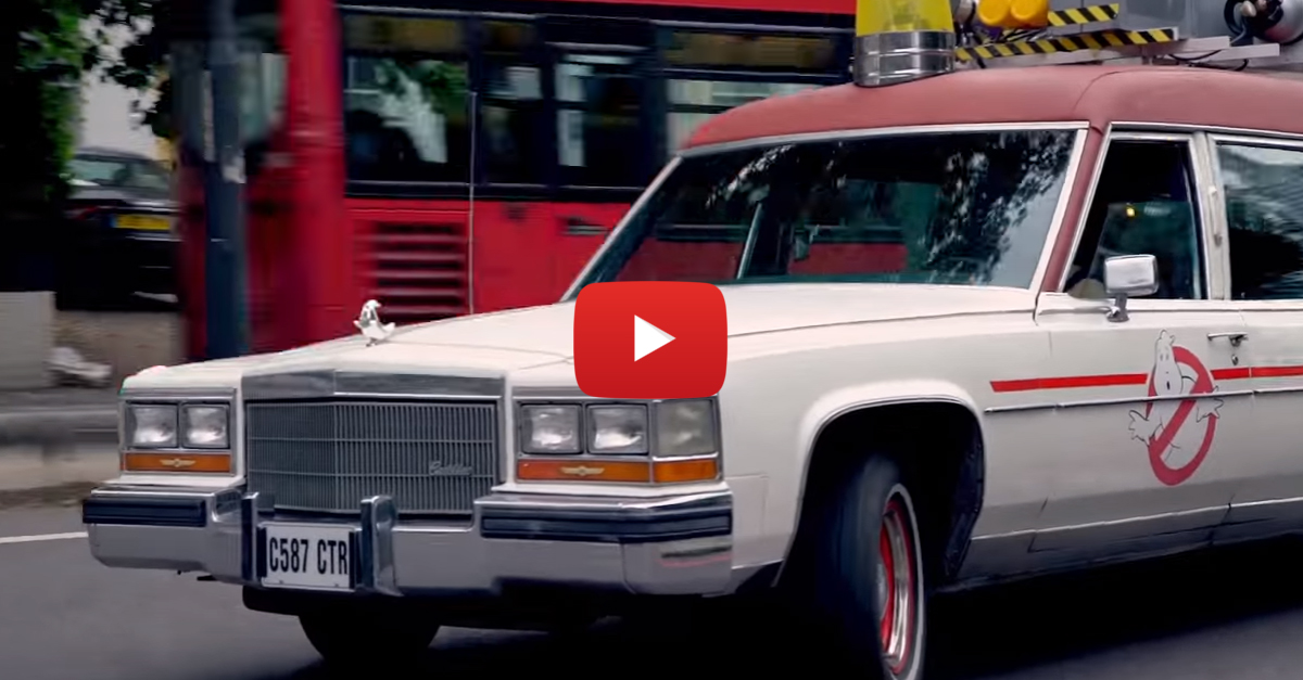 Driving The Ghostbusters' ECTO-1 Makes Everyone Stop And Stare