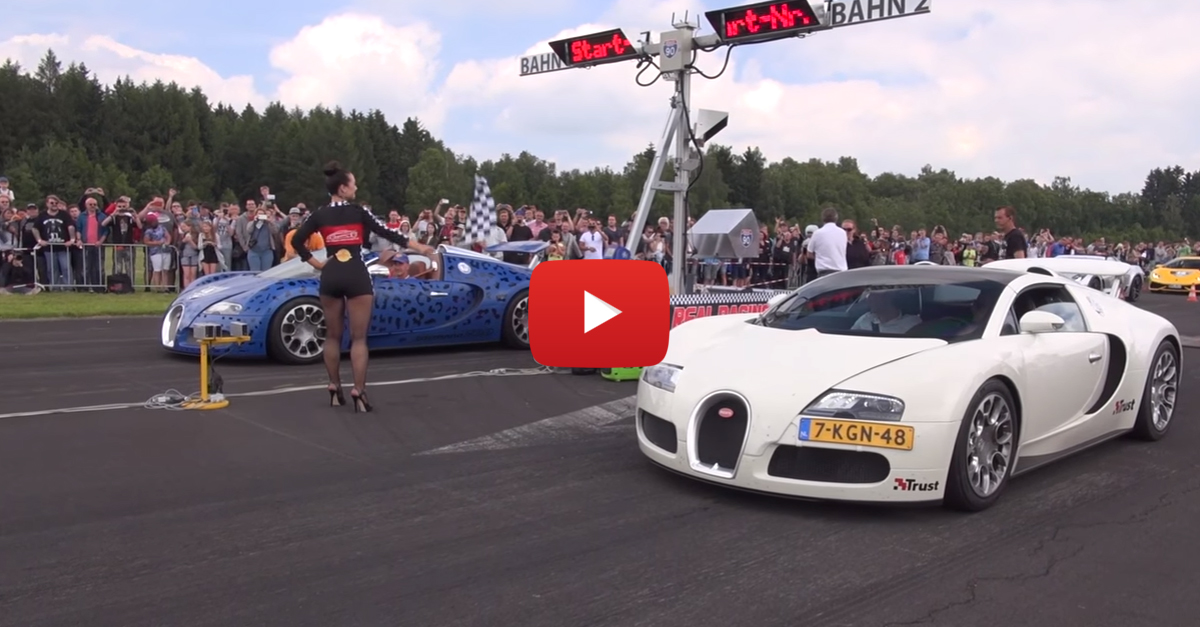 When Two Bugatti Veyrons Square Off, Everyone Wins