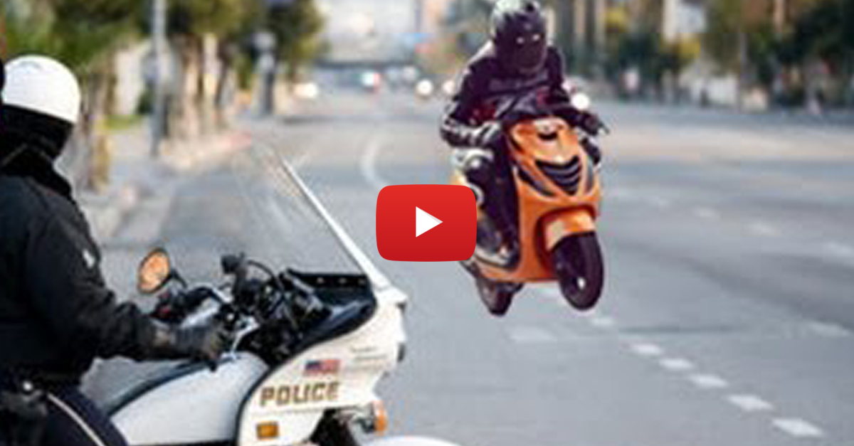 Police vs Scooters — Compilation of Some Crazy Scooters Chased by Cops