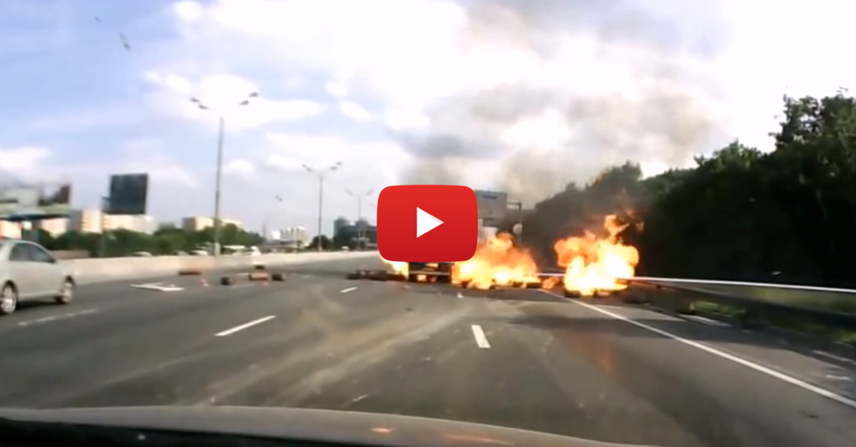 How NOT To Drive A Truck Full Of Flammable Material