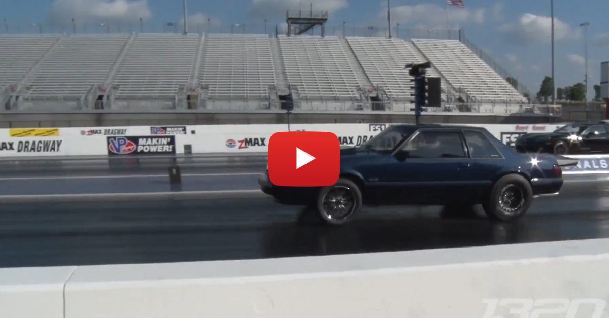 Even With A Crappy Chinese Turbo, This Mustang Rips Down The Dragstrip
