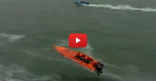 Disaster Strikes Speedboat When Jump Goes Totally Wrong