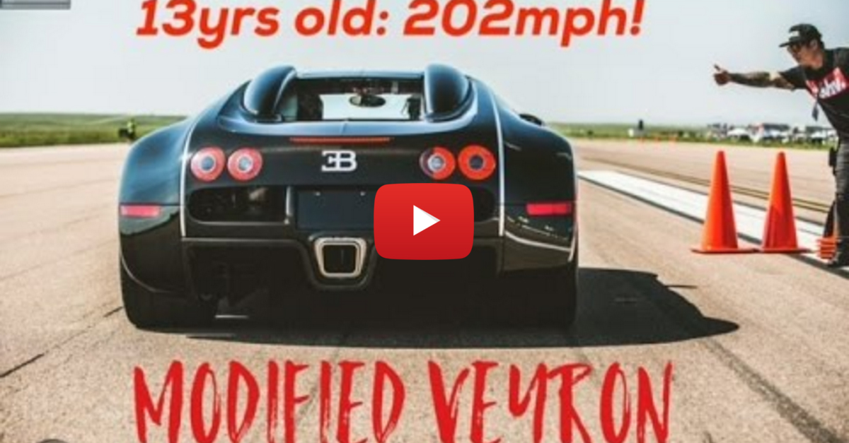 13 Year Old Kid Dominates 202 MPH in a Bugatti Veyron
