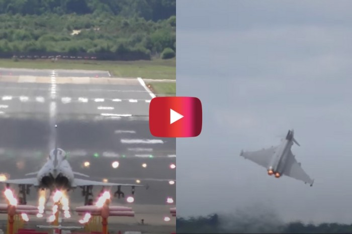 Eurofighter Typhoon Fighter Jet's Incredible Takeoff