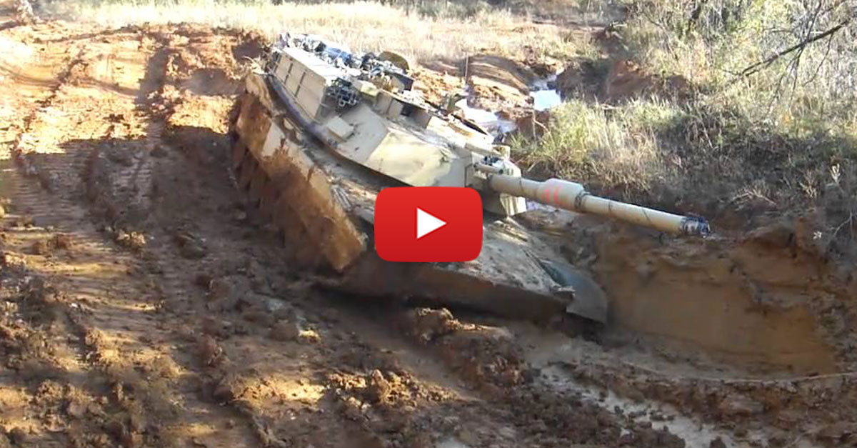 Mudding With A M1A1 Tank