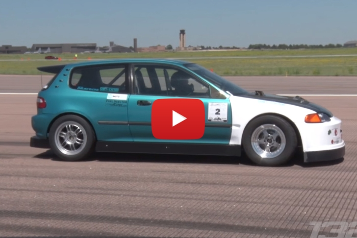 800 HP Civic Is Powered By A Turbo-Boosted Minivan Engine