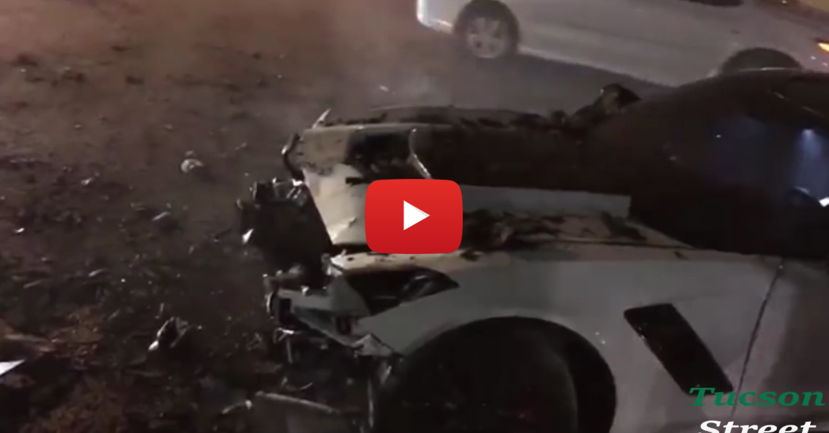 Corvette C7 Z06 Tries to Show Off and Crashes Spectacularly
