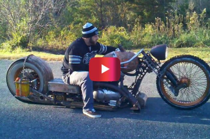 Check out the Incredible Redneck Limo Rat Bike Chopper
