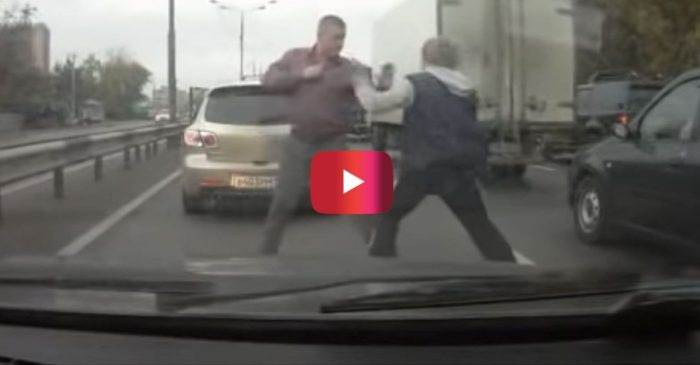 Russian Big Guy Picks a Fight with the Wrong Little Guy