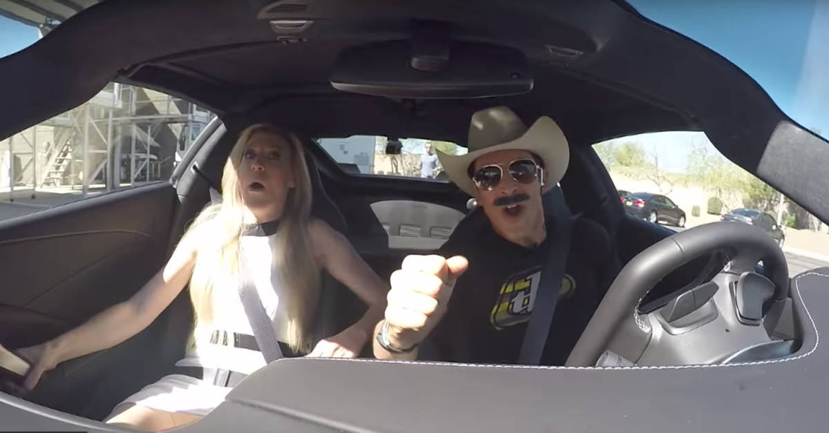 Indy Car Driver Helio Castroneves Pranks the Hell Out of Miss California