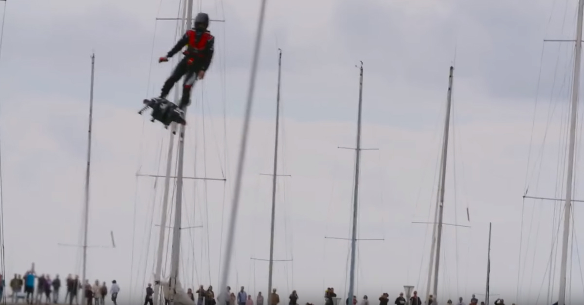 Real-Life Hoverboard Sets Historic World Record Flight