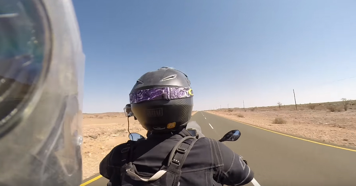 Motorcycle Rider Shows Off How Beaked Helmets Cause Whiplash