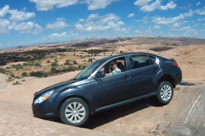 Subaru Legacy Easily Conquers A Nearly Impossible Trail In Moab