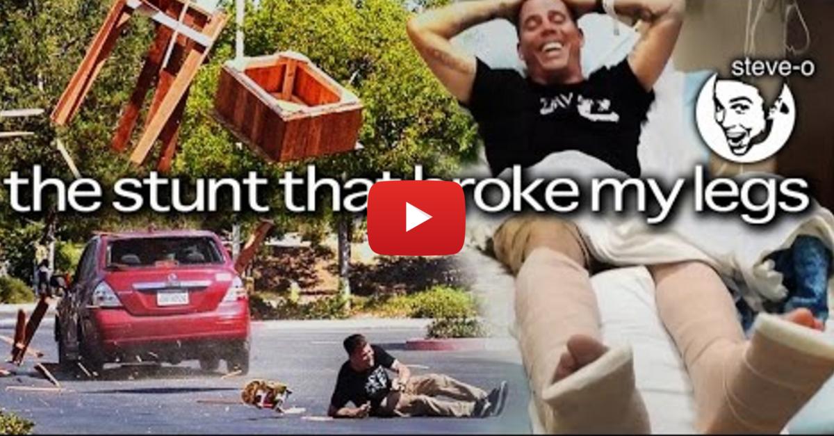 Jackass' Steve-O Just Broke His Legs with a Car Stunt